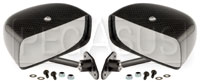 Click for a larger picture of Club Series Rectangular Convex Mirrors, Carbon Fiber, Pair