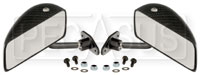 Click for a larger picture of Club GT Series Flat Lens Mirrors, Carbon Fiber, Pair