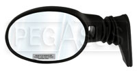 Click for a larger picture of Vitaloni Concept V Mirror, Black - Convex Lens