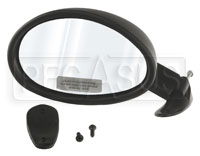 Click for a larger picture of Vitaloni Californian Mirror, Convex, Black - Left Side
