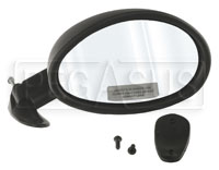 Click for a larger picture of Vitaloni Californian Mirror, Convex, Black - Right Side