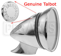 Click for a larger picture of Talbot Berlin 300 Junior Mirror, Chrome, Flat Lens