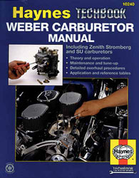 Click for a larger picture of Haynes Weber Carburetor Shop Manual