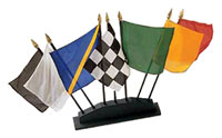 Click for a larger picture of Rectangular Flag Set with Wood Base