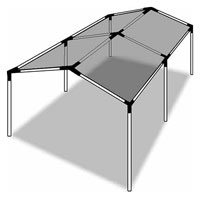Click for a larger picture of 20 x 6 1/2 ft Side Wall for A-Frame Canopy Kit