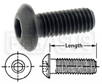 Click for a larger picture of Button Head Allen Screw