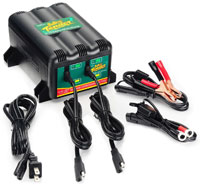 Click for a larger picture of 2-Bank Battery Tender Plus with 2 Year Warranty