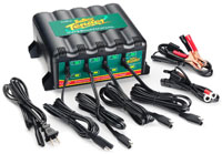 Click for a larger picture of 4-Bank Battery Tender Plus with 2 Year Warranty
