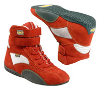 "Click for a larger picture of OMP ""Racing 2"" High-Top Kart Shoe"