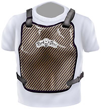 Click for a larger picture of Top Dog Carbon Fiber Chest Protector, SFI 20.1