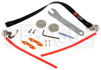 "Click for a larger picture of HANS VA Plus Sliding Tether Kit (18""), QC Anchors"