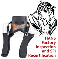 Click for a larger picture of HANS Factory Inspection and SFI Recertification
