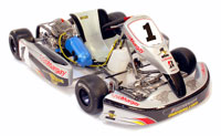 Click for a larger picture of Margay Brava Rookie Kart, Rolling Chassis