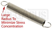 "Click for a larger picture of Throttle/Brake Pedal Return Spring, 3.5"" x 0.5"" x 0.055"""