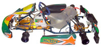Click for a larger picture of Merlin LM30 Kart, Rolling Chassis, 100cc and TaG