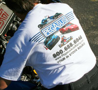 Click for a larger picture of Pegasus Tee Shirt with Mike Sturm Graphic Design, White