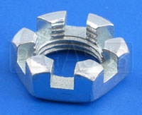 Click for a larger picture of 5/8-18 Castellated Nut for Kart Spindle