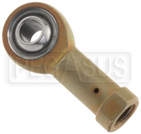 Click for a larger picture of Milspec Alloy Steel Female Rod End, PTFE Lined
