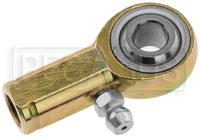 Click for a larger picture of Carbon Steel Rod End, Female with Zerk Type Fitting