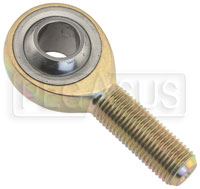Click for a larger picture of Carbon Steel Metric Rod End, Male Threaded Shank, Flush Zerk