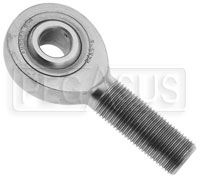 Click for a larger picture of Extra Heavy Duty Alloy Steel Male Rod End, Plain