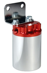 Click for a larger picture of Aeromotive 10 Micron Remote Fuel Filter, 3/8 NPT, Polished