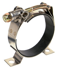 Click for a larger picture of Aeromotive Rubber-Lined T-Bolt Mounting Clamp, 2 3/8 - 2 1/2
