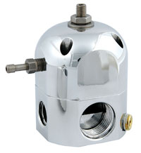 Click for a larger picture of Adj Regulator, Carbureted, Billet, By-Pass, 2-Port, Platinum