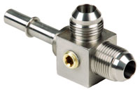 """Click for a larger picture of LT1 Fuel Injection Tee, 2x 8AN Male x 3/8"""" Male, Feed"""