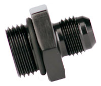 Click for a larger picture of Aeromotive 8AN Male to -6 O-Ring Boss Adapter, Black