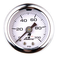 Click for a larger picture of Aeromotive Fuel Pressure Gauge, 0-100 psi 1/8 NPT