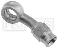 Click for a larger picture of Stainless Steel Bent Banjo #3 Hose End, 20 deg, 3/8 (10mm)
