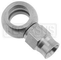 Click for a larger picture of Stainless Steel -3 Straight Banjo Hose End, 7/16