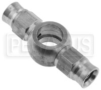 Click for a larger picture of Stainless Steel -3 Double Banjo Hose End, 7/16