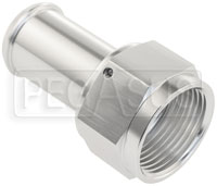 """Click for a larger picture of Silver Aluminum 1.0"""" Barbed Hose End, 16AN Female, Straight"""