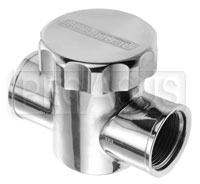 Click for a larger picture of Aeroflow In-Line Radiator Filter / Filler, Polished