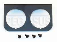 Click for a larger picture of 2-Hole Mounting Panel for Z Series Gauges, Black