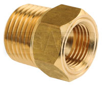 Click for a larger picture of 1/2 NPT Mechanical Temperature Gauge Adapter, Brass
