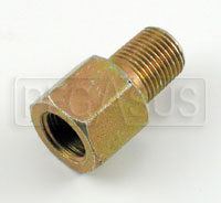 Click for a larger picture of 1/8 NPT Female to 1/8 BSP Male Pressure Gauge Adapter, Brass