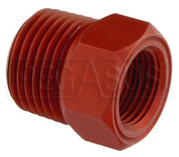 Click for a larger picture of 1/2 NPT Mechanical Temperature Gauge Adapter, Aluminum