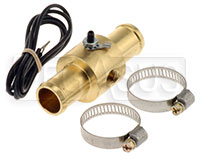 "Click for a larger picture of Inline Temp Gauge Adapter for  3/4"" Hose, 1/8 NPT Female"