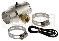 "Click for a larger picture of Inline Temp Gauge Adapter for 1.50"" Hose, 3/8 NPT Female"