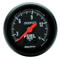 Click for a larger picture of Z Series 2 inch Fuel Pressure Gauge, 15 psi