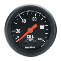 Click for a larger picture of Z Series 2 inch Oil Pressure Gauge, 100 psi, 6 foot