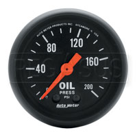 Click for a larger picture of Z Series 2 inch Oil Pressure Gauge, 200 psi, 6 foot