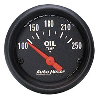 Click for a larger picture of Z Series 2 inch Oil Temp Gauge, 100-250 degree, Electric