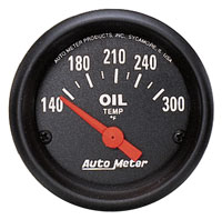 Click for a larger picture of Z Series 2 inch Oil Temp Gauge, 140-300 degree,  Electric