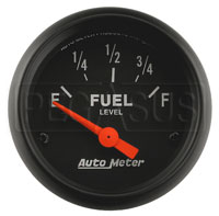 Click for a larger picture of Z Series 2 inch Fuel Level Gauge, 0-90 Ohm