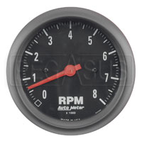 Click for a larger picture of Auto Meter Z-Series Tachometer, 8K, 3 3/8""