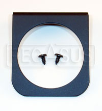Click for a larger picture of 1-Mounting Hole Panel for 2 5/8 inch Gauges, Black
